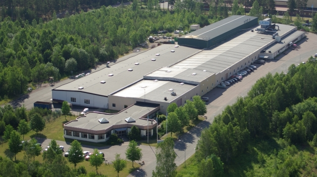 Aerial photo of the LEIAB factory